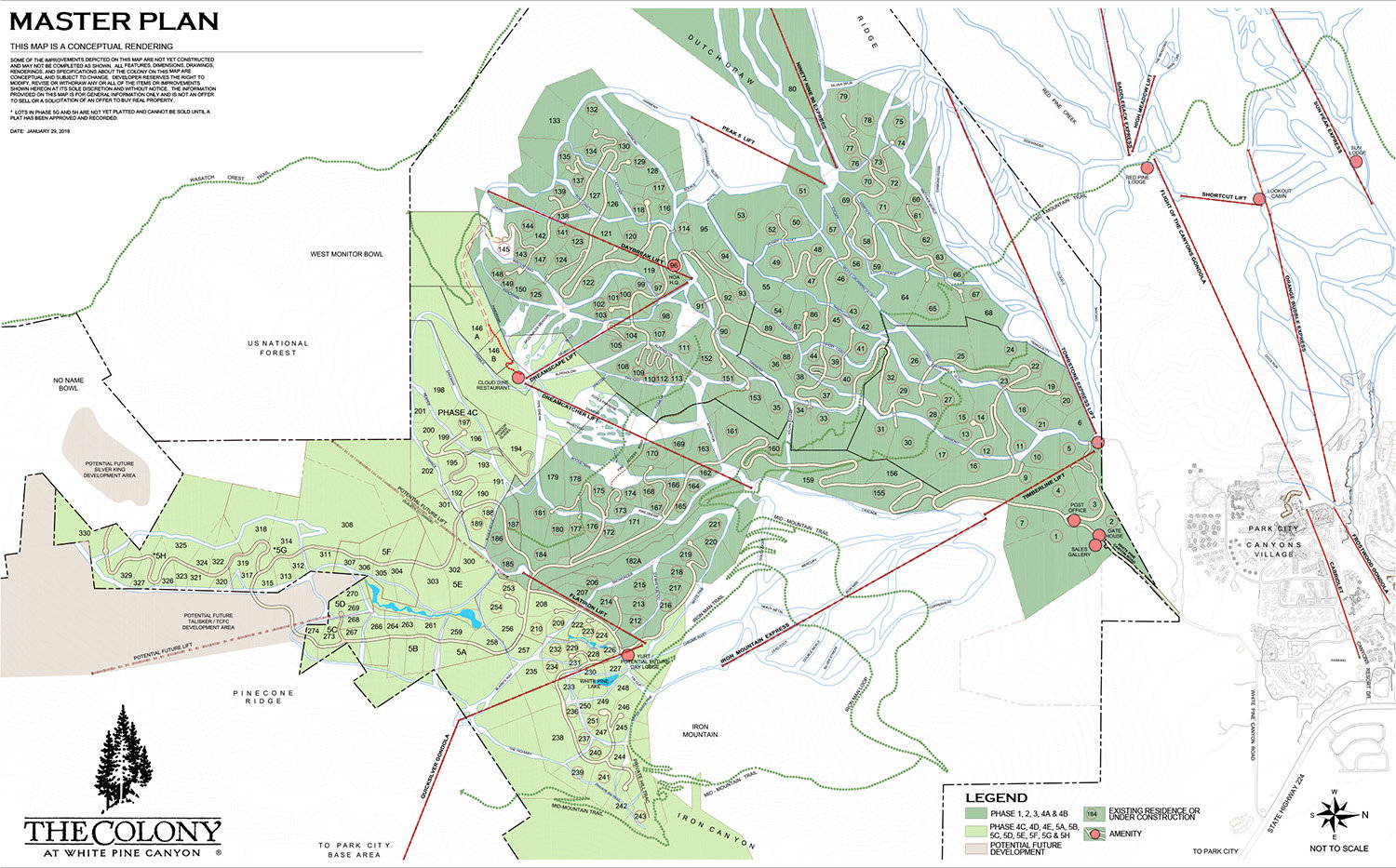 The Colony at White Pine Canyon Plat Map