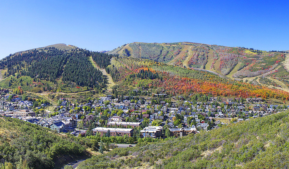 fall colors in park city's old town neighborhood