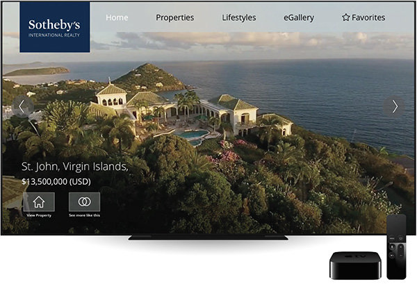 apple tv sothebys