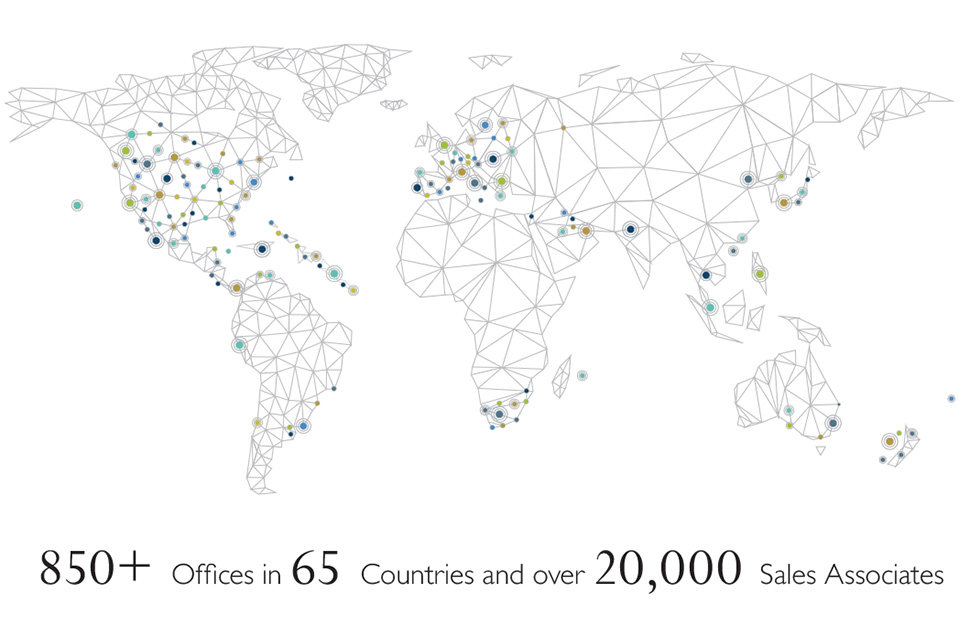 Sothebys 850 offices 65 countries 20,000 agents