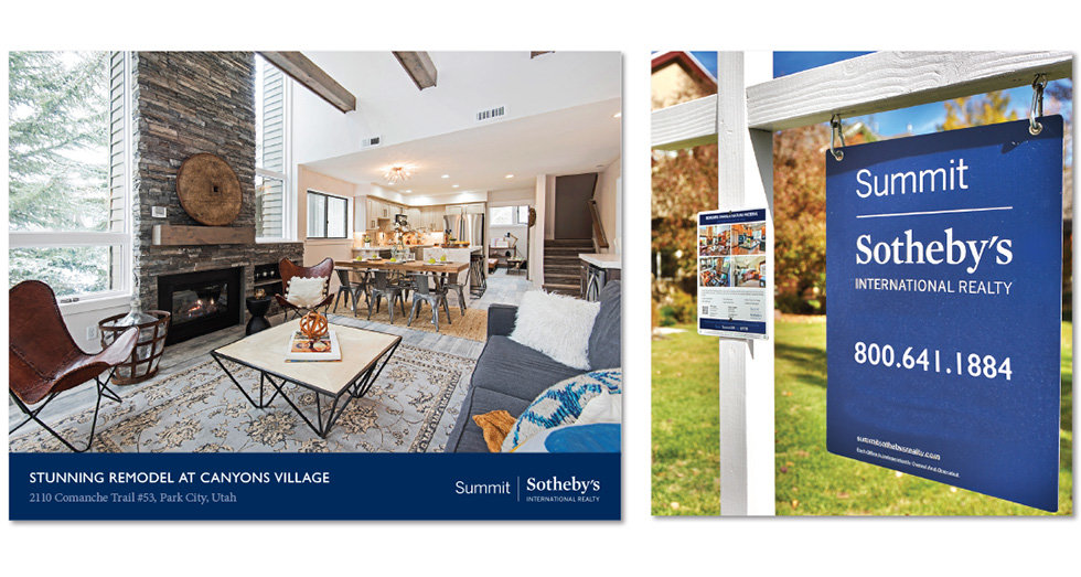Sotheby's property brochures and yard signs