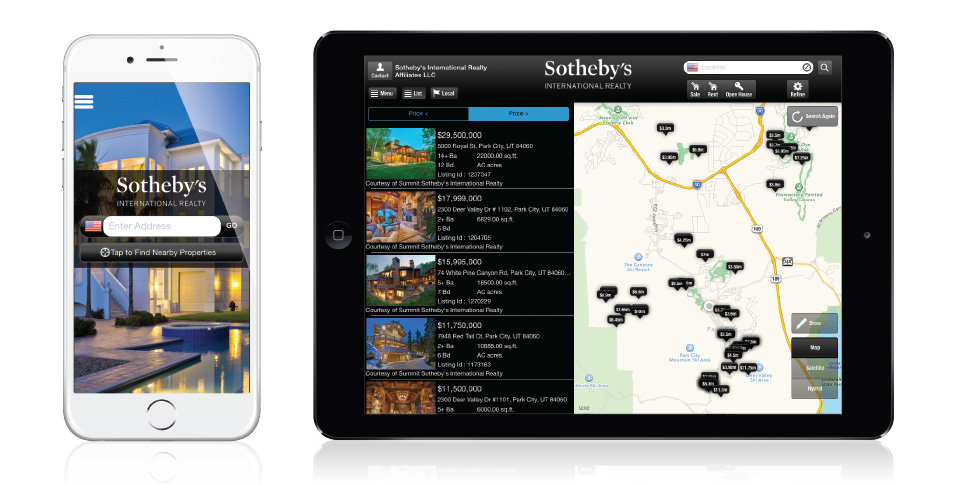 Sotheby's real estate app