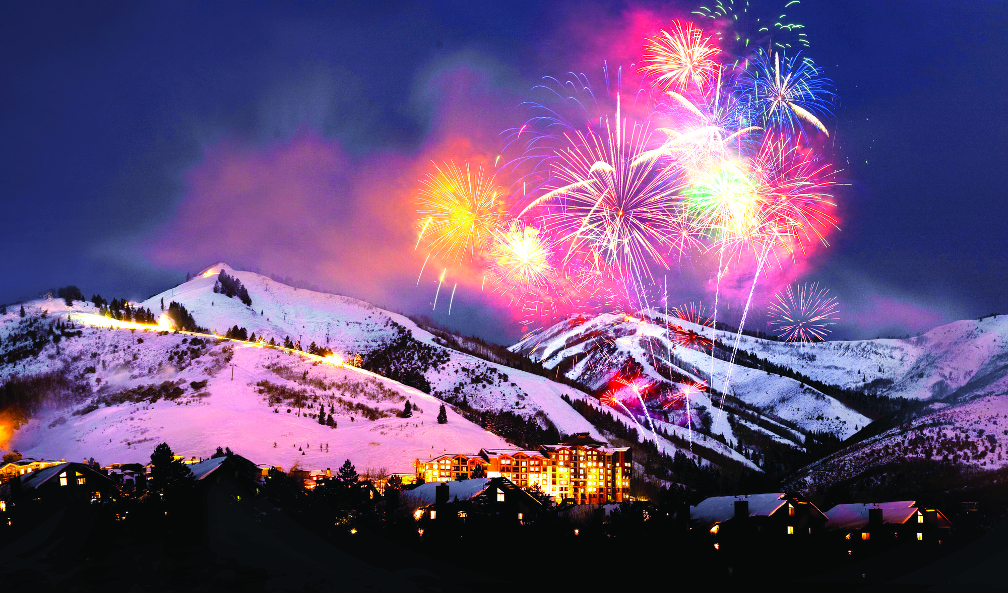 Park City Mountain New Year's Fireworks