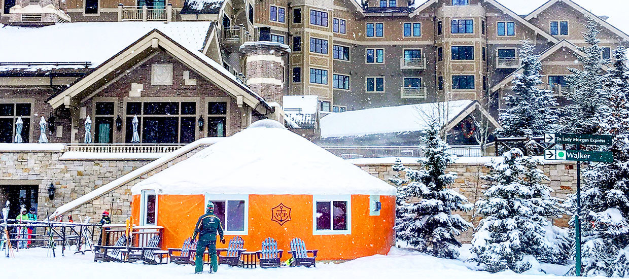 Veuve Clicquot yurt at Deer Valley