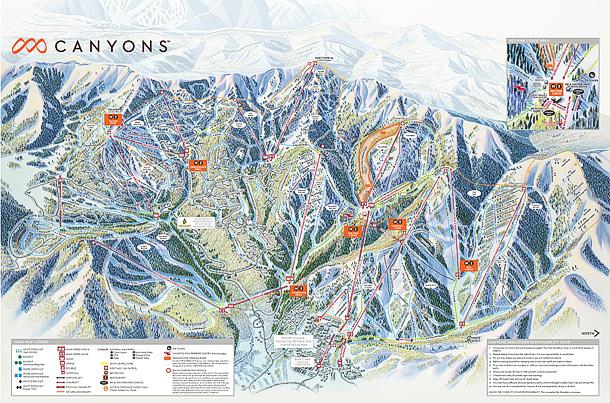Canyons Ski Resort Map 2017 610