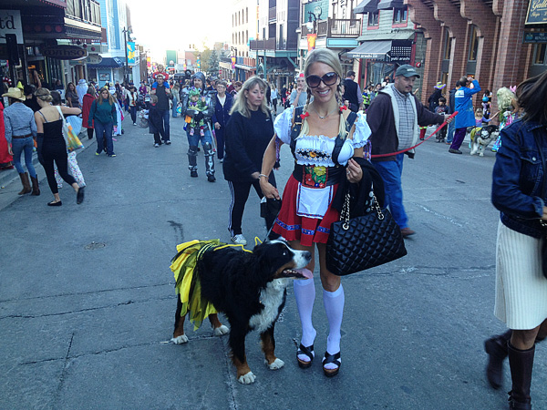 halloween on historic main street in park city