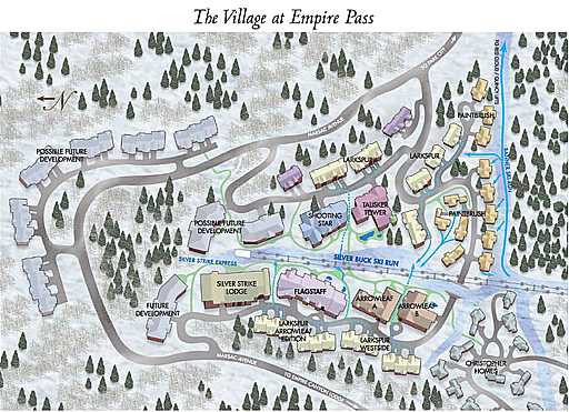 Empire pass is a master planned ski in ski out